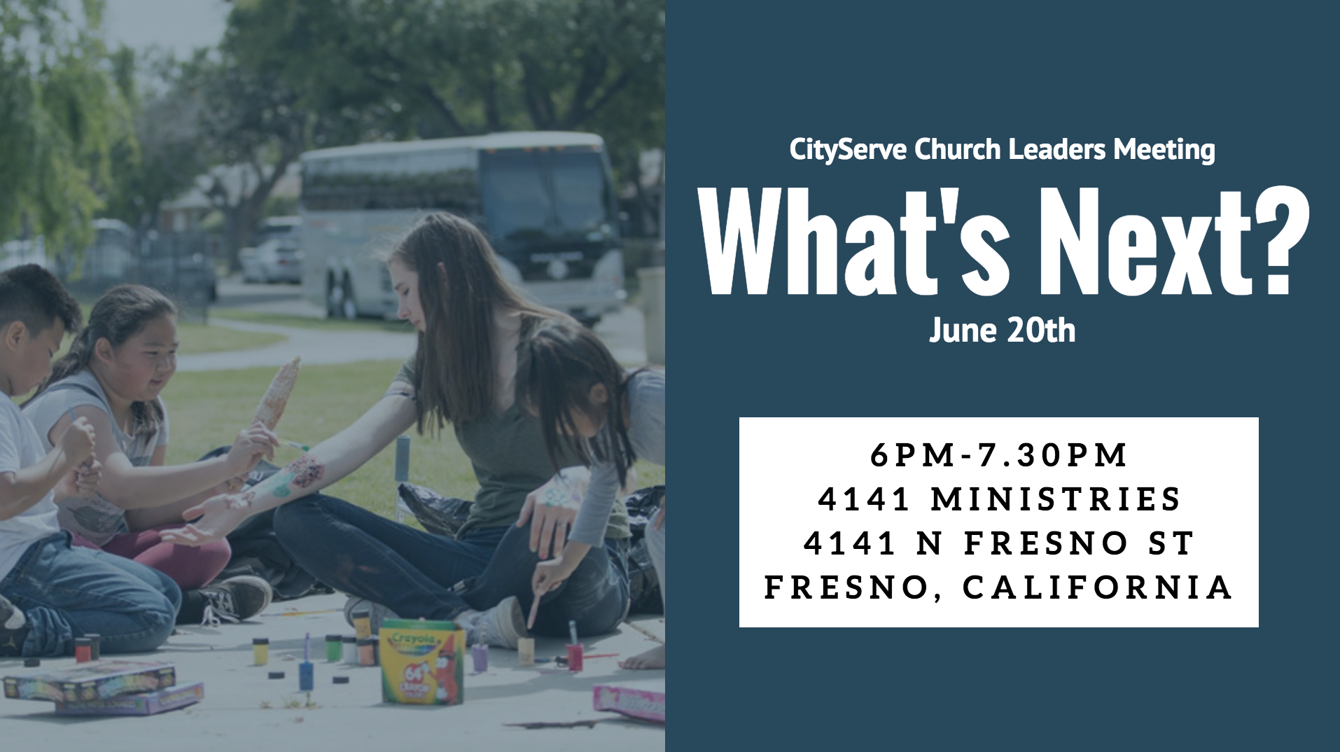 CityServe Leaders Meeting – June 20th