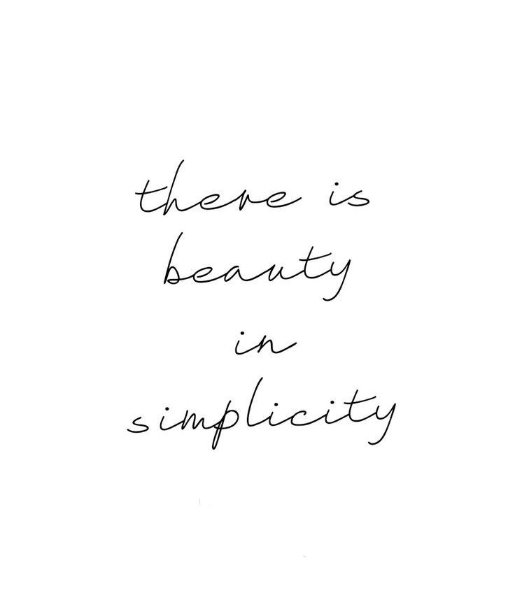 Less is More: Simplify Things!